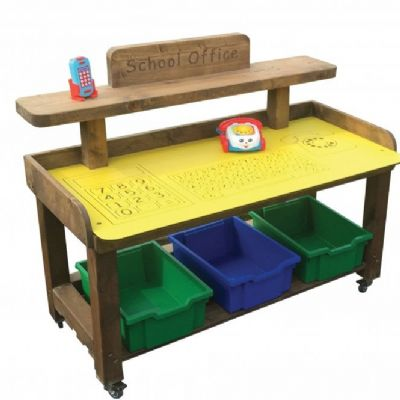Outdoor School Office,Early years role play,outdoor roleplay resources,outdoor play equipment,Leave Me Outdoors playground equipment storage,playground storage equipment,outdoor wooden storage